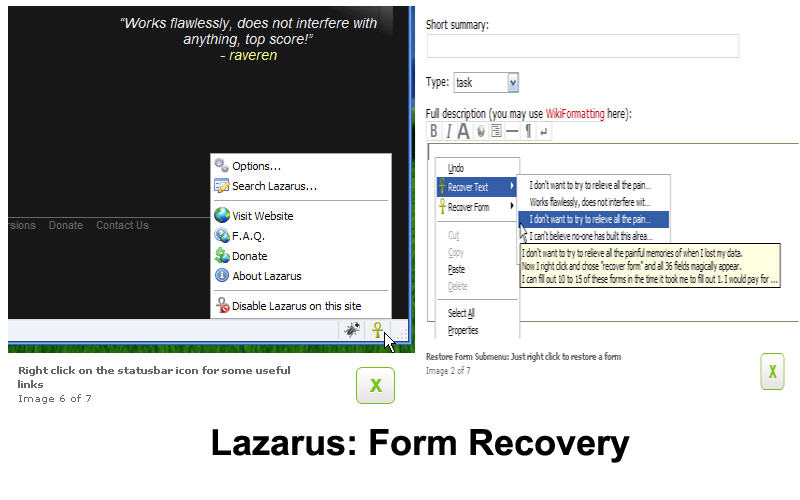 Form Recovery