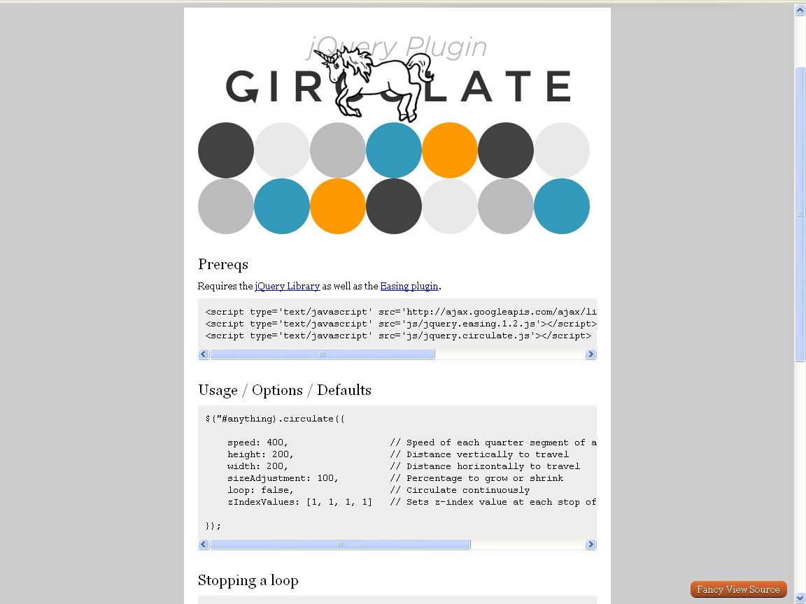 circulate-jquery-plugins