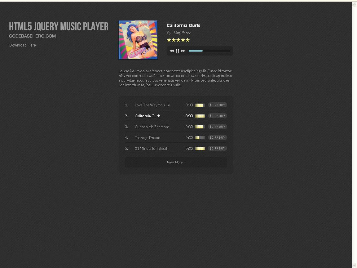 jquery-music-player