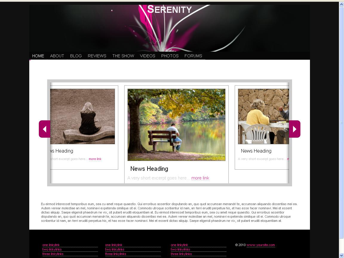 serenity-html5-template
