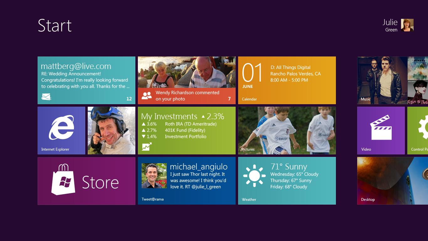 MS Windows 8