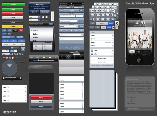 iPhone 4 GUI (Photoshop)