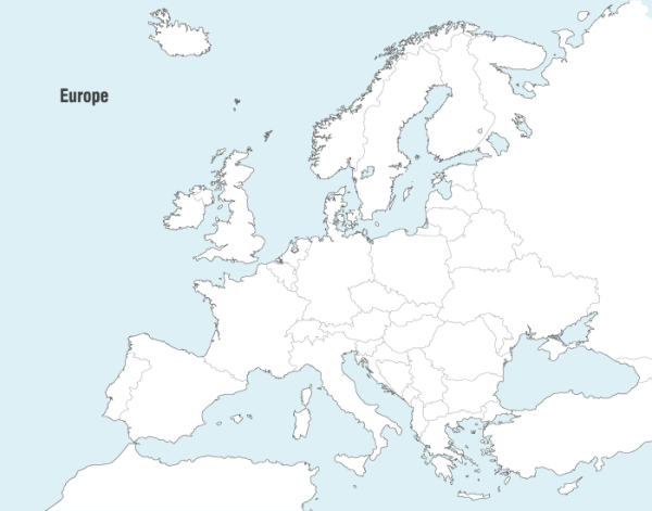 Europe Vector Map (.ai format)