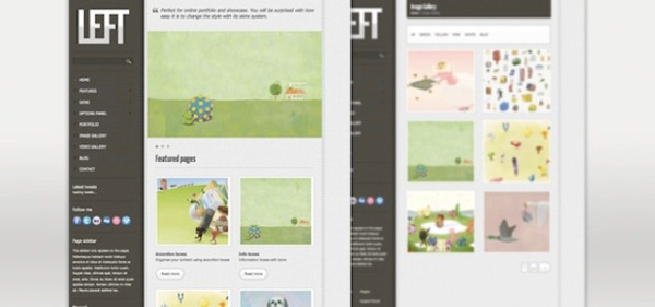 Left Website Layout