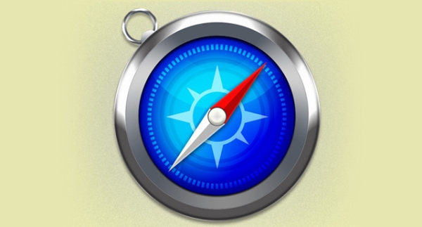 Apple Safari Icon in Photoshop