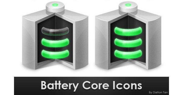 Battery Core Icon in Photoshop