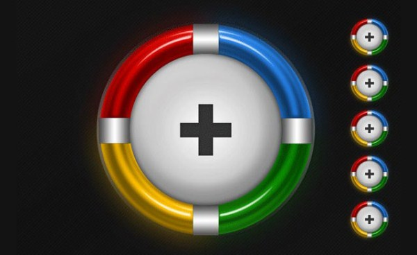 Glowing Google Plus Icon-Illustration