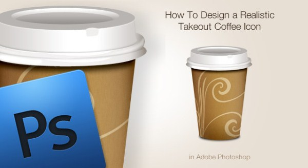 Realistic Takeout Coffee Icon
