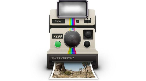 Vintage Polaroid Camera Icon