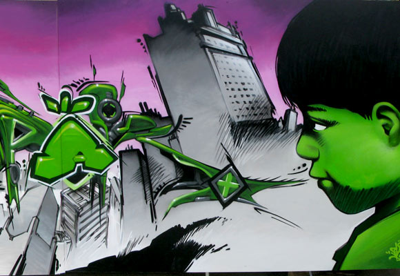 Contest graffiti in Cergy