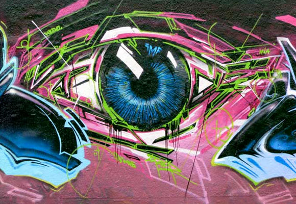 Eyegasm graffiti