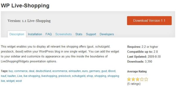 Live shopping Plugin for WordPress
