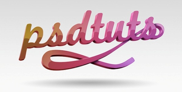 3D Typography in Illustrator and Photoshop