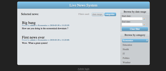 Live News Blogging System