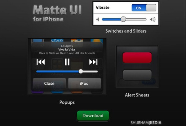 Matte iPhone UI v1.1
