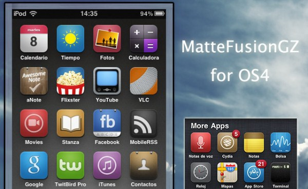 MatteFusionGZ iPhone Theme V4