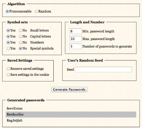 Automated Password Generator Online