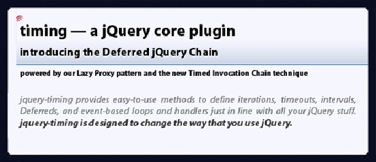 jquery-timing