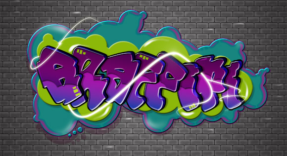 Cartoon-Style Graffiti Text Effect in Photoshop