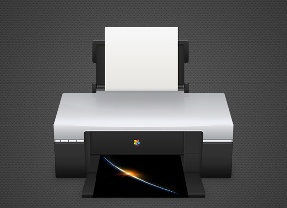 Detailed Printer Illustration