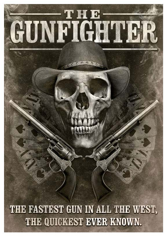 Grungy Western Movie Poster in Photoshop
