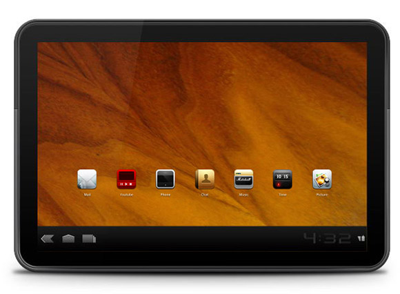 Motorola Xoom Smart Tablet in Photoshop