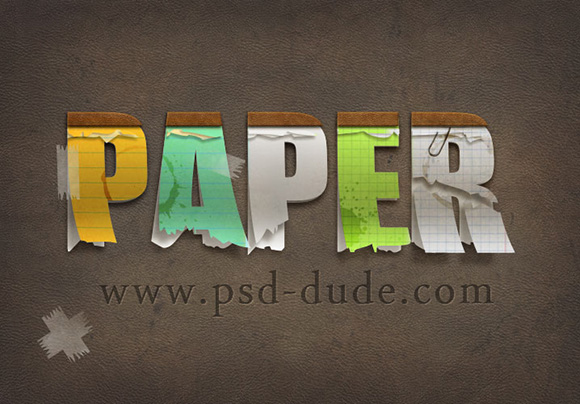 Paper Text in Photoshop