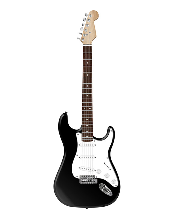 Photorealistic Electric Guitar in Photoshop