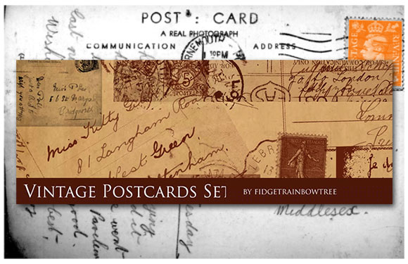 Vintage Postcards Set