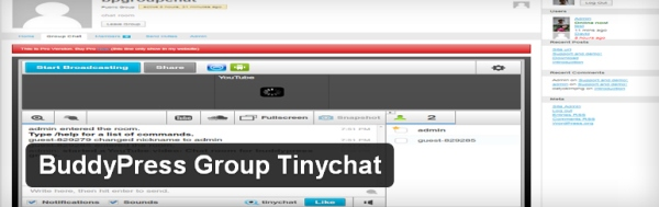 BuddyPress Group Tinychat