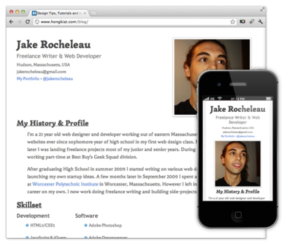 Coding a Responsive Resume in HTML5-CSS3
