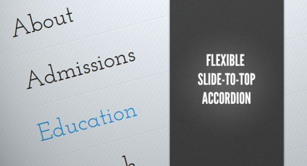 Flexible Slide-to-top Accordion