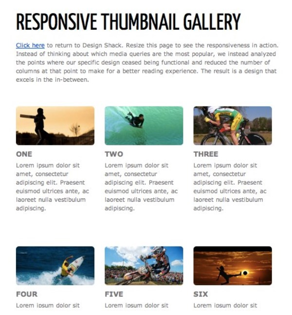 Responsive Thumbnail Gallery