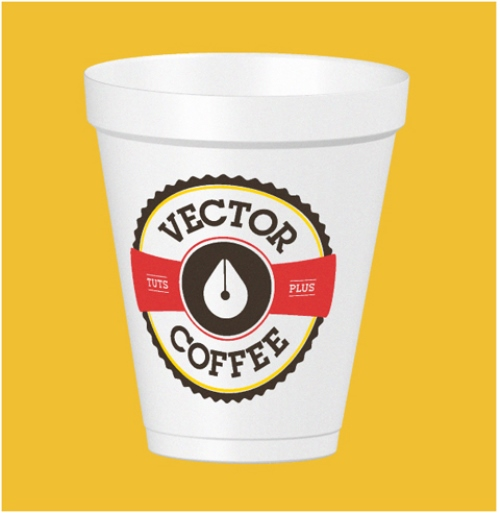 Coffee Cup Mock Up in Adobe Illustrator Using the 3D Revolve Effect