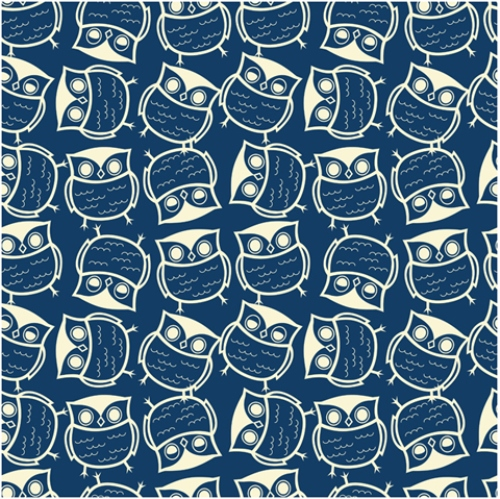Cute seamless owl background pattern