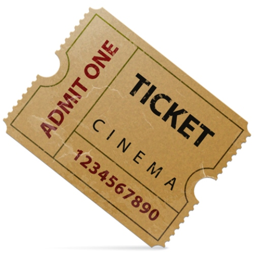 Illustrate an Old Cinema Ticket