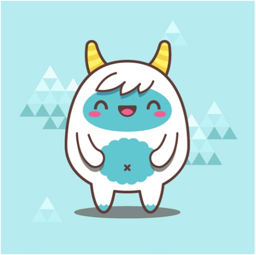 Kawaii Yeti With Basic Shapes in Adobe Illustrator